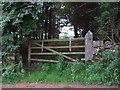 NY9876 : Gated track into woodland by JThomas