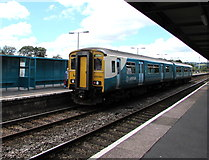 SN1916 : Fishguard Harbour train at Whitland station by Jaggery