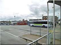 SJ8545 : Newcastle-under-Lyme Bus Station by Mike Faherty