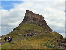 NU1341 : Lindisfarne Castle by Stuart Shepherd