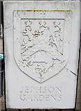 SP3265 : Jephson Gardens name plaque, Royal Leamington Spa  by Jaggery