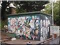 TQ3273 : West Dulwich station murals by Julian Osley