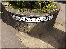 TL1314 : Harding Place sign by Adrian Cable