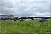 TA1281 : Tents and caravans at North Cliff Country Park, Filey by David Smith