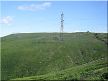 SD9617 : Pylon north of the A58 Halifax Road by Colin Pyle