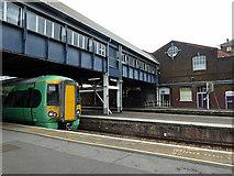 TQ2775 : The 'Brighton' platforms at Clapham Junction Railway Station by John Lucas