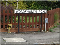 TL1314 : Wordsworth Road sign by Adrian Cable