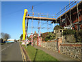 TV4998 : Arundel Road, Seaford, with scaffolding round a house by Robin Stott