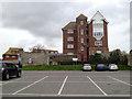 TV4898 : Four-storey flats overlooking Saxon Lane car park, Seaford by Robin Stott