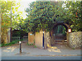 TV4899 : Lych gate to the churchyard of St Peter the Apostle, Blatchington Hill, Seaford by Robin Stott