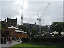NT2574 : Tower cranes in St Andrew Square by M J Richardson