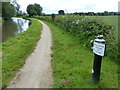 SK3828 : Trent & Mersey Canal Milepost along the towpath by Mat Fascione