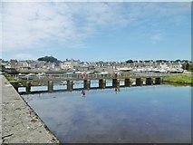 SC2667 : Castletown, footbridge by Mike Faherty