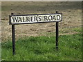 TL1313 : Walkers Road sign by Adrian Cable