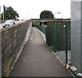 SN4119 : Footpath and cycle route below Station Approach, Carmarthen by Jaggery
