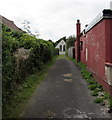 SN1219 : Path to St David's church, Clunderwen by Jaggery