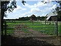 TL2026 : Field entrance near Redcoats Farm by JThomas