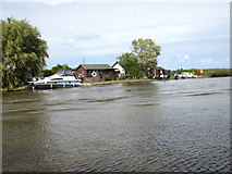 TG4319 : Bungalows beside the River Thurne by Evelyn Simak