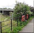 SN4019 : Wales Coast Path lifebuoys alongside a stile, Carmarthen by Jaggery