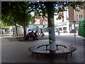 SX9192 : Yarnbombing in South Street, Exeter by David Smith