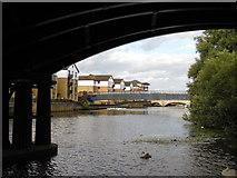 TL1998 : River Nene from beneath the Nene Viaduct, Peterborough by Paul Bryan