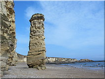 NZ3965 : Lot's Wife and Marsden Sands by Mike Quinn
