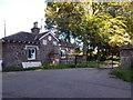 NO6851 : Lodge Gate, Lunan Home Farm by Stanley Howe