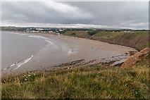 TA1281 : Filey Beach from Filey Brigg, Yorkshire by Christine Matthews