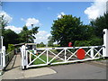 TG1001 : Level crossing at Wymondham Abbey station by Marathon