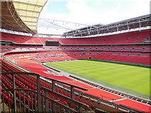 TQ1985 : Wembley Stadium - East Stand by Paul Gillett