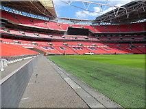 TQ1985 : Pitch side view - Wembley Stadium by Paul Gillett