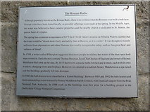 """SK2375 : Sign at the """"Roman Baths"""" by Basher Eyre"""