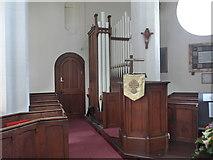 SK2375 : Inside St Martin, Stoney Middleton (vi) by Basher Eyre