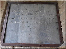 SK2572 : St Anne, Baslow: church dignitaries commemorated by Basher Eyre