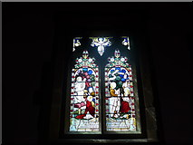 SK2572 : St Anne, Baslow: stained glass window (III) by Basher Eyre