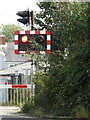 TM3863 : Level Crossing Lights on Mill Road by Adrian Cable