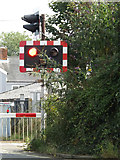 TM3863 : Level Crossing Lights on Mill Road by Geographer