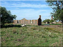 TQ7178 : Derelict buildings, Cliffe Marshes by Robin Webster
