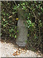 TA0090 : Gatepost and a bench mark in Hay Lane, Scalby by John S Turner