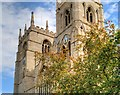 TF6119 : Two Towers, King's Lynn Minster (St Margaret's Church) by David Dixon