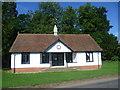TL5029 : The cricket pavilion at Rickling Green by Marathon