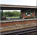 SZ6086 : Disused platform at Brading railway station by Jaggery