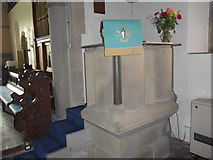 SK2566 : St Katherine, Rowsley: pulpit by Basher Eyre