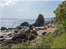 NH7661 : Secluded sandy beach on the Black Isle coast by Julian Paren