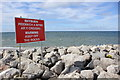 SH9679 : Sea Defences near Towyn by Jeff Buck
