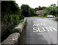SN5601 : Bilingual sign on Heol y Parc, Llangennech by Jaggery