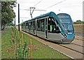 SK5637 : Wilford: tram testing at Coronation Avenue by John Sutton