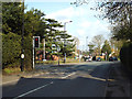 SP1098 : Southeast on Streetly Lane A454 at a road junction, Four Oaks, Sutton Coldfield by Robin Stott