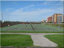 TQ2704 : Tennis Courts on Western Lawns by Paul Gillett