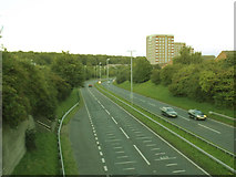 SE2334 : Stanningley Bypass east of Swinnow Lane by Stephen Craven